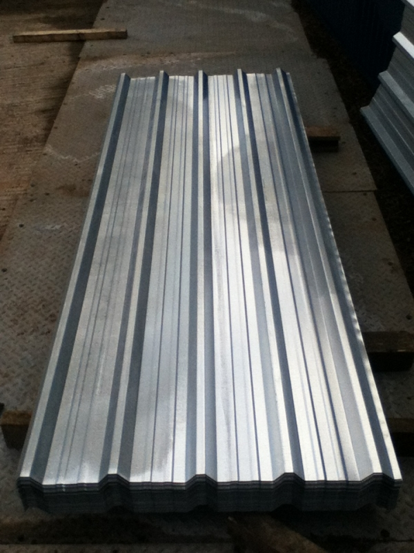 New 20 ft x 1.000 Mtr    Galvanised Box Profile Roofing Sheets