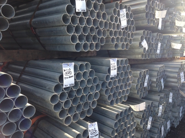 6.000 Mtrs Lengths of 21.3 mm x  2.5 mm  Clean Galvanised Steel Tube Drainage - Water Pipe