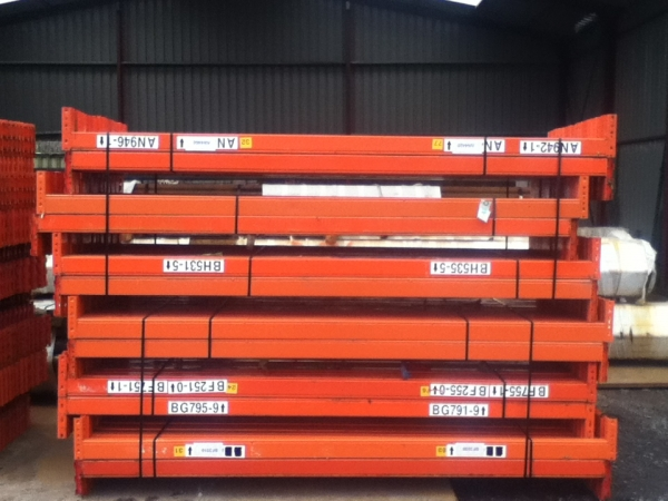 Used Redirack 2.650 Mtr Orange Cross Bar / Beam Varying 90 to 95 mm x 45 to 50 mm - Industrial Steel Racking - Not Dexion, Planned Storage, Stakrak or Link 51