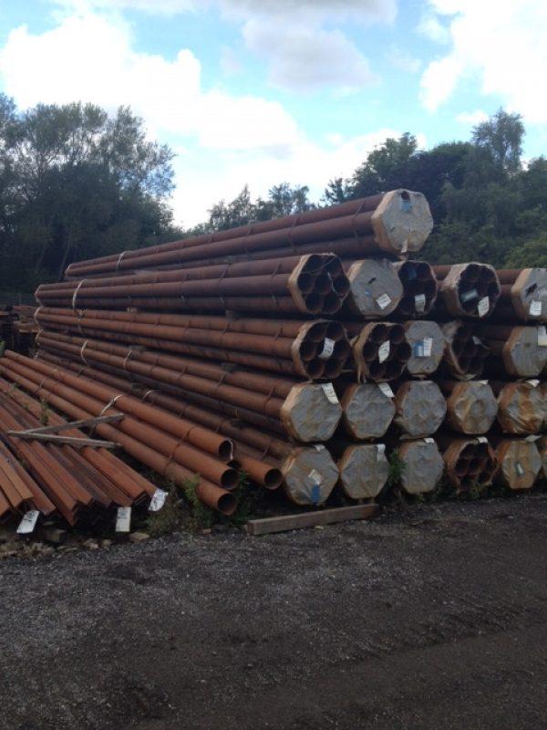11.050mtr Lengths of 168.3mm x  5mm  Unused Tube Varying Atmospheric Rust Drainage - Water Pipe