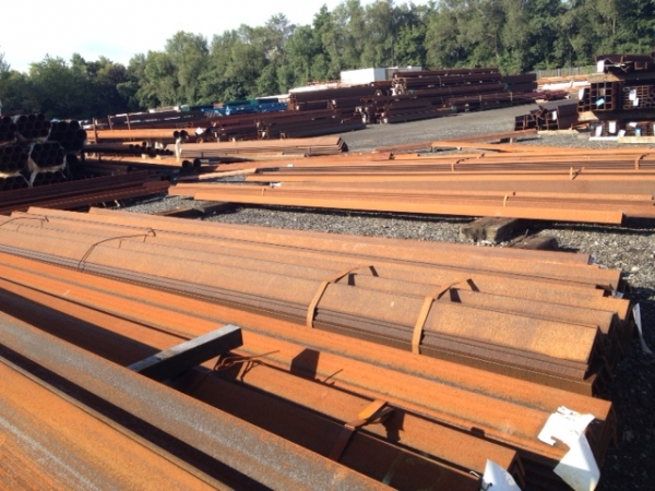 8.950 Mtrs Length 130 mm x  130 mm x 10 mm Thick Unused Varying Atmospheric Rust Steel Angle