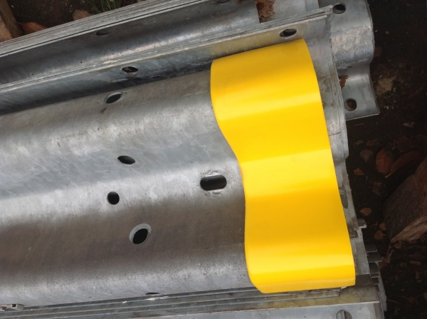 New hi Viz End Sleeve to Suit Armco Barrier