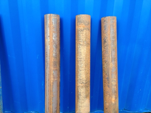 Unused Self Coloured 88.9mm x  3.0mm x  1.3mtr Long Steel Bollard - Steel Post - Concrete in Post - Concrete Fill Bollard