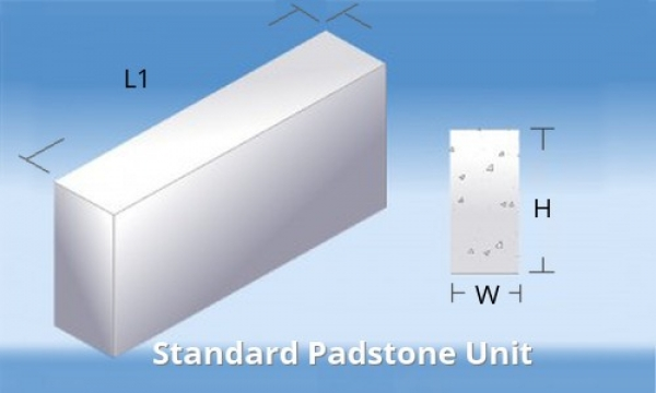 400 Mmx215 Mmx100 mm Concrete Padstone C50 Strength