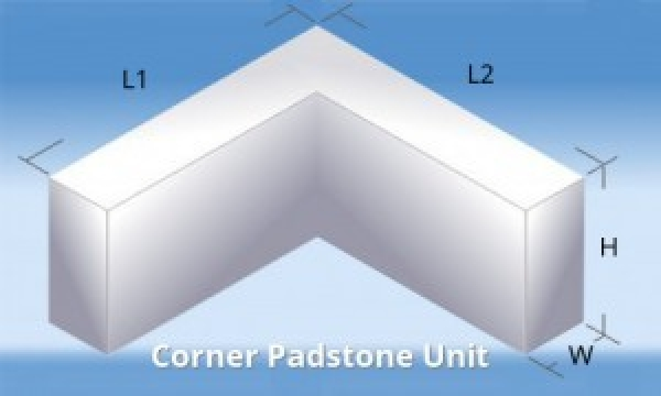 440/440 Mmx215 Mmx100 mm L-shape Corner Concrete Padstone C50 Strength