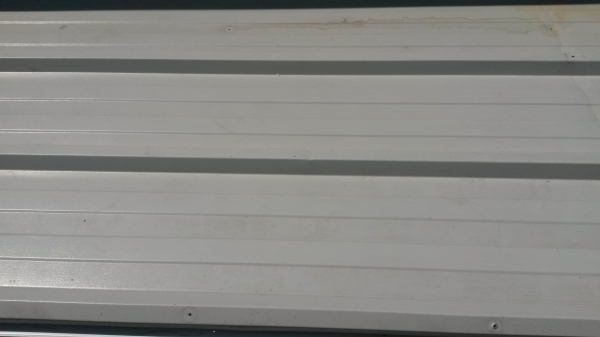 Used 2.135 Mtr x 1.000 Mtr Cover 60 mm Thick Light Grey  Insulated Box Profile Roofing Sheets