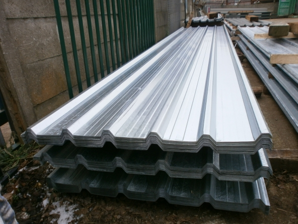 New 16 ft x 1.000 Mtr    Galvanised Box Profile Roofing Sheets