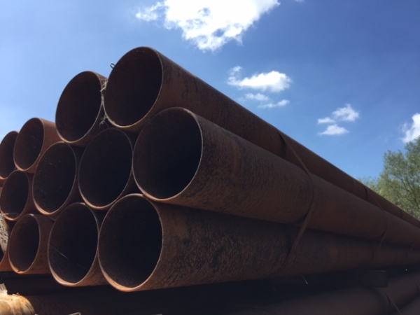 6.400 Mtr Lengths of 168.3mm x  5mm  Unused Slight Atmospheric Rust Steel Tube - Chs - Circular Hollow Section Drainage - Water Pipe