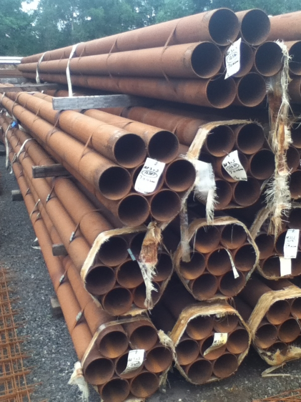 9.000 Mtr Lengths of 168.3mm x  5 mm  Unused Slight Atmospheric Rust Steel Tube - Chs - Circular Hollow Section Drainage - Water Pipe