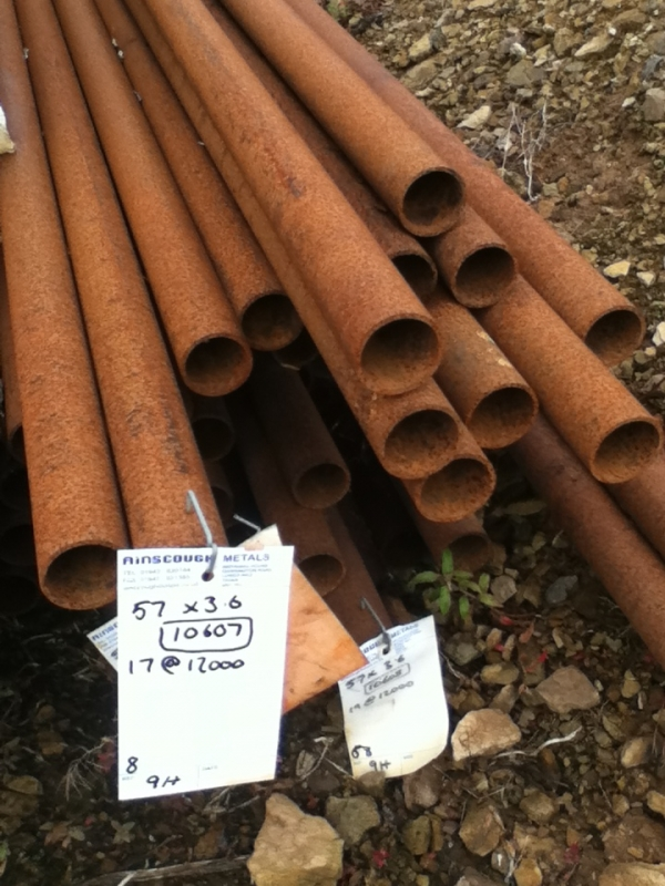 12.000 Mtrs 57 mm Diameter  Steel Tube (3.6 mm Thick) Drainage - Water Pipe