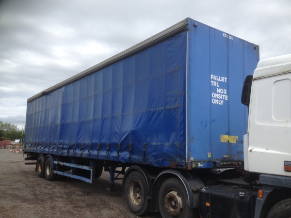Second Hand Comet Curtainsider Trailer Model Tt1220as 2 Axle Artic Curtainsider Trailer 1997