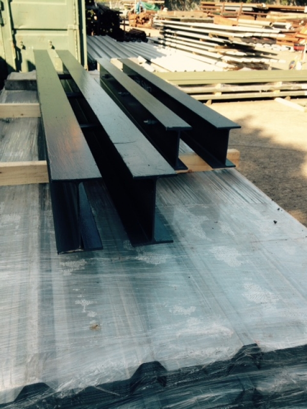 Fabricated Compound Beam- 2 Beams Bolted Together - 3.800 Mtr Long 178x102x19 kg