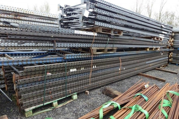 Used Link 51 8.850 Mtr x 900 mm Grey Upright Frames - Racking Industrial Steel Racking - Shelving - Storage - Not Redirack, Dexion, Planned Storage, or Stakrak