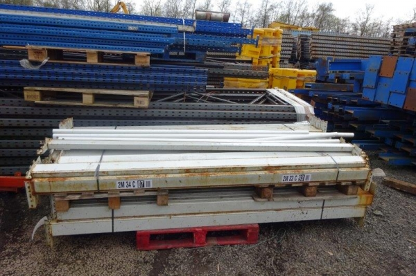 Used Redirack 2.650 Mtr Grey Cross Bar / Beam 110 x 45 Closed Beam - Industrial Steel Racking - Not Dexion, Planned Storage, Stakrak or Link 51