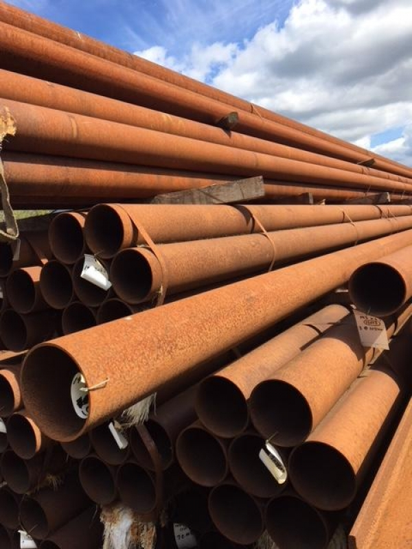 7.520 Mtrs Lengths of 193.7mm x  8mm  Unused Stock Rusty Stock Rusty Steel Tube - Chs - Steel Pipe Drainage - Water Pipe