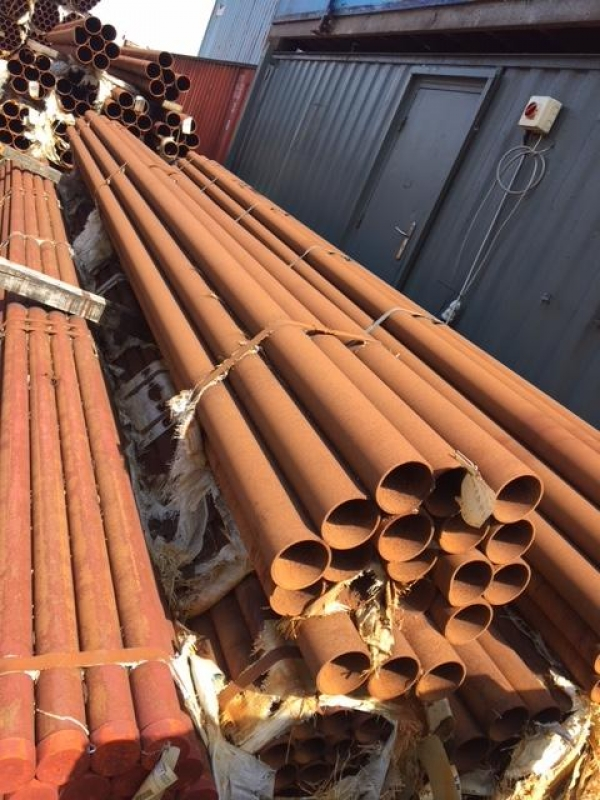 8.500 Mtrs Lengths of 114.3mm x  3.2mm  Unused Stock Rusty Stock Rusty Steel Tube - Chs - Steel Pipe Drainage - Water Pipe