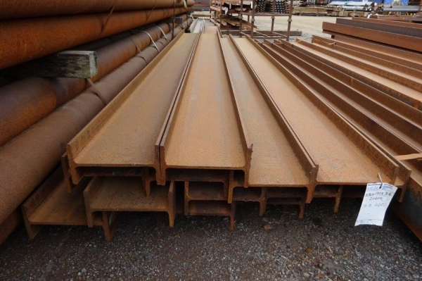 4.480 Mtr 270 mm x 135 mm x 36.1 Kg/m Steel Ipe New Unused Angle Cut