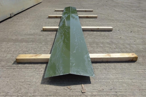 10 ft Green Polymer Coated  Ridge Board
