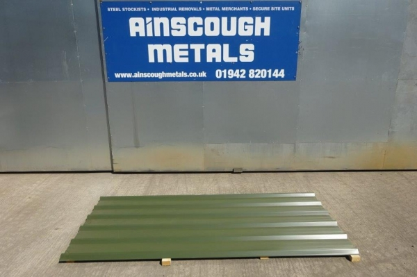 New 20 ft x 1.000 Mtr  Dark Green  Polymer Coated Box Profile Roofing Sheets
