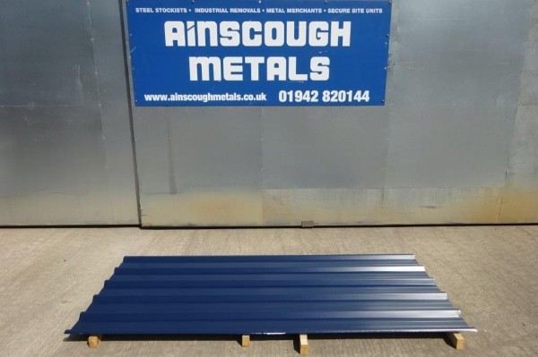 Seconds Coating Damaged 8 ft x 1.000 Mtr  Dark Blue  Polymer Coated Box Profile Roofing Sheets
