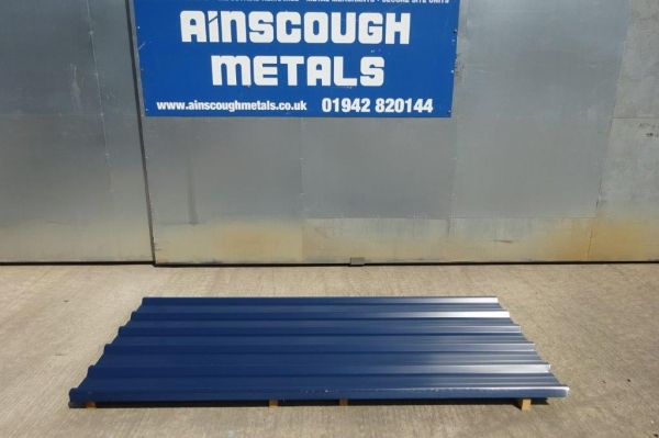 New 14 ft x 1.000 Mtr  Dark Blue  Polymer Coated Box Profile Roofing Sheets