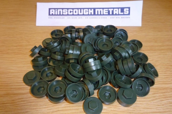 Roof Fixing Caps Green ( Bag of 100 )