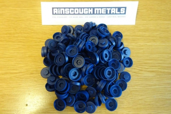 Roof Fixing Caps Blue New ( Bag of 100 )