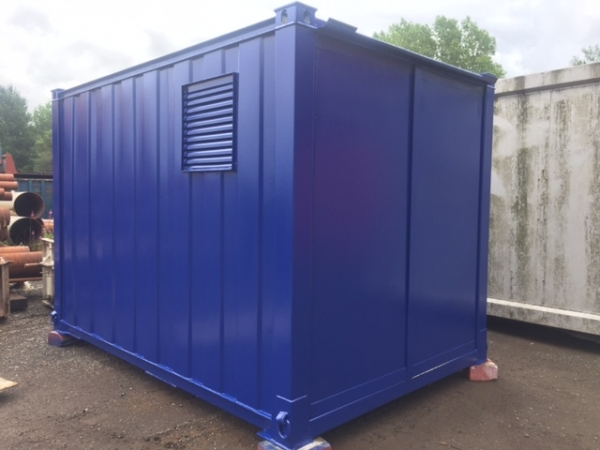 12 ft Long 8 ft Wide Blue Secure Generator Container / Power Cube Container - Second Hand - Store