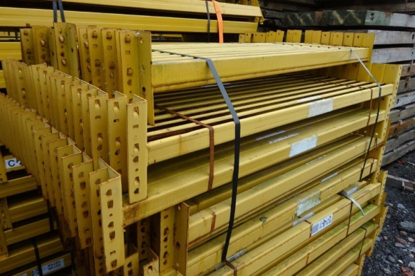 Used Link 51 1.390 Mtr Open Beam Yellow Cross Bar / Beam 50 mm x 50 mm - Industrial Steel Racking - Not Redirack, Dexion, Planned Storage, or Stakrak