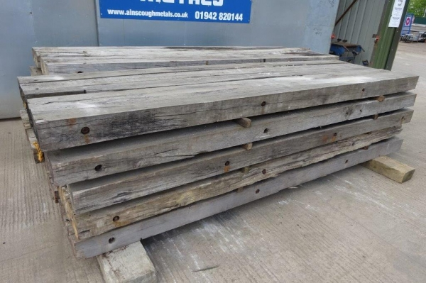Used Mixed Species Hardwood Timber / Crane Mat 3.500 Mtr x 1.000 Mtr x 140 mm (ekki Mat / Access Mat, Bog Mat, Excavator Mat, Floor Protection, Road Covers, Not Road Plates)