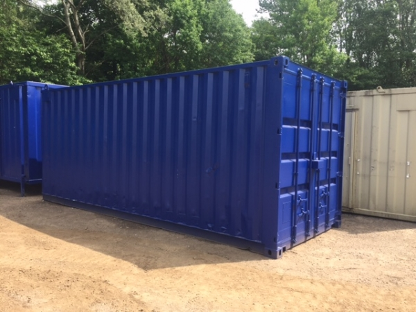20 ft Long 8 ft Wide Red, Blue, Green or Grey Steel Storage Container Second Hand Refurbished / Bespoke - Made to Order - Store