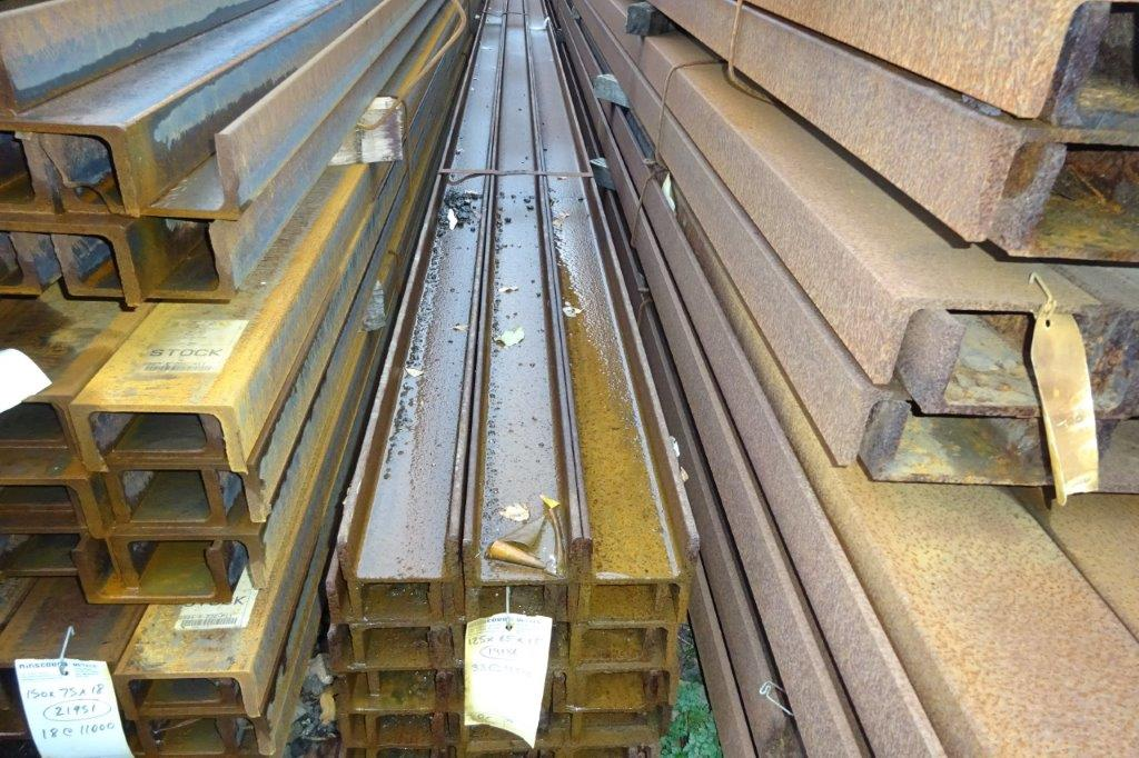 4.5 Mtrs 125 x 65 x 14.8 UC Universal Steel Channel