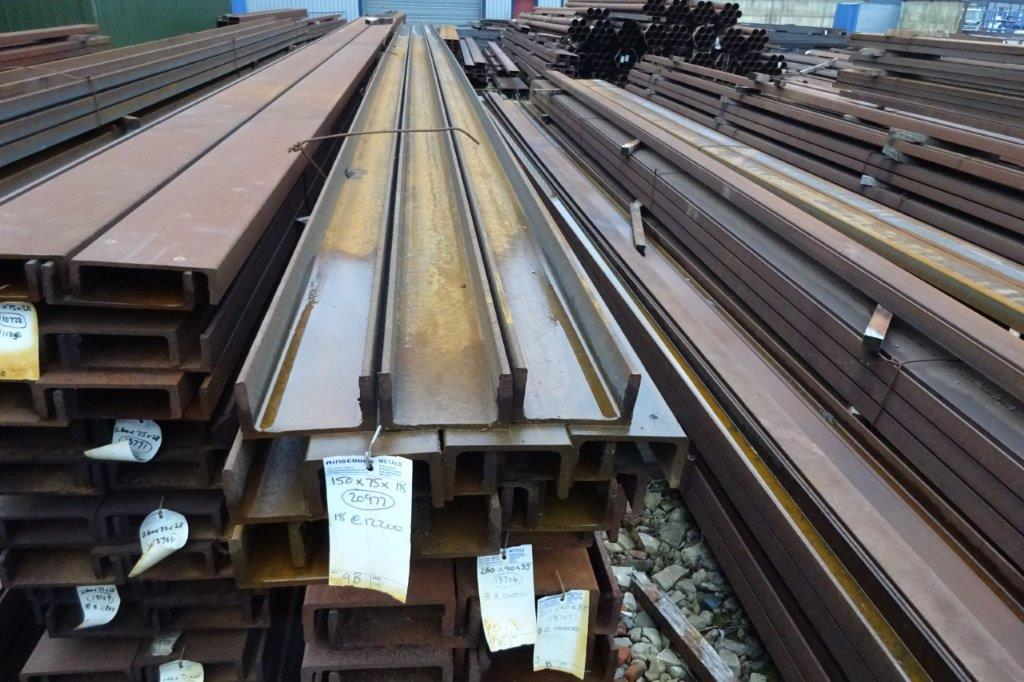 9 Mtrs 150 x 75 x 18 UC Universal Steel Channel