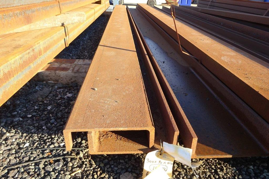 6 Mtrs 300 x 90 x 41.4 UC Universal Steel Channel
