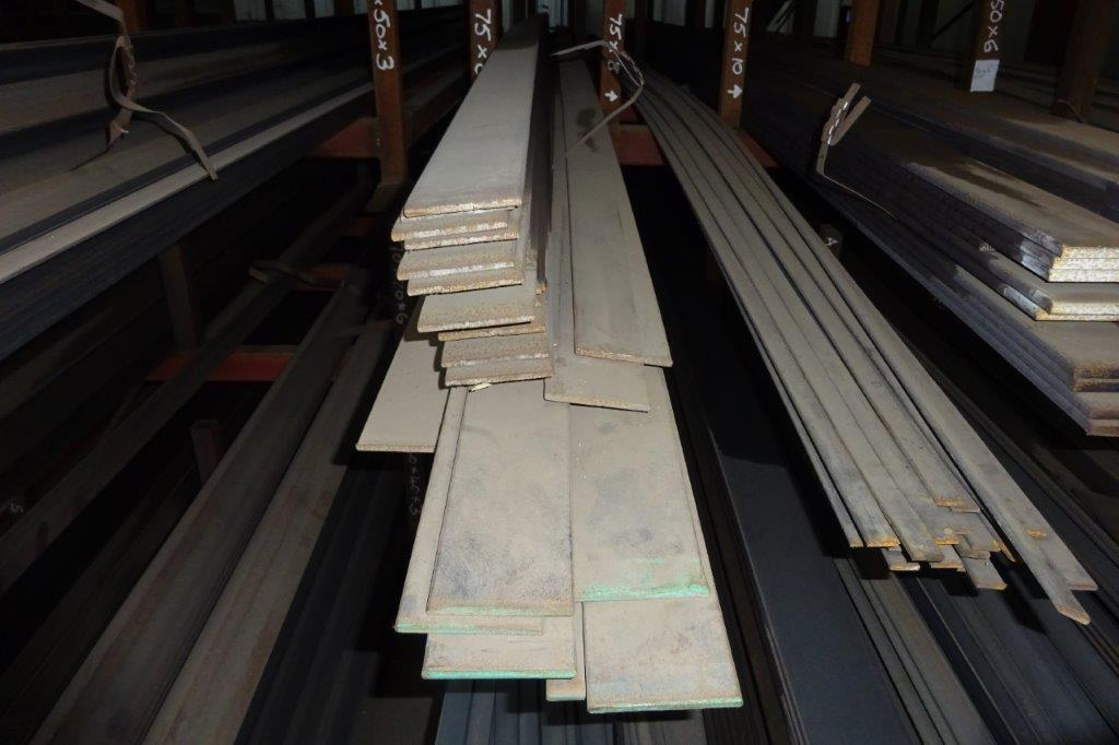 6 Mtrs 75 x 6 Mild Steel Metal Flat Bar