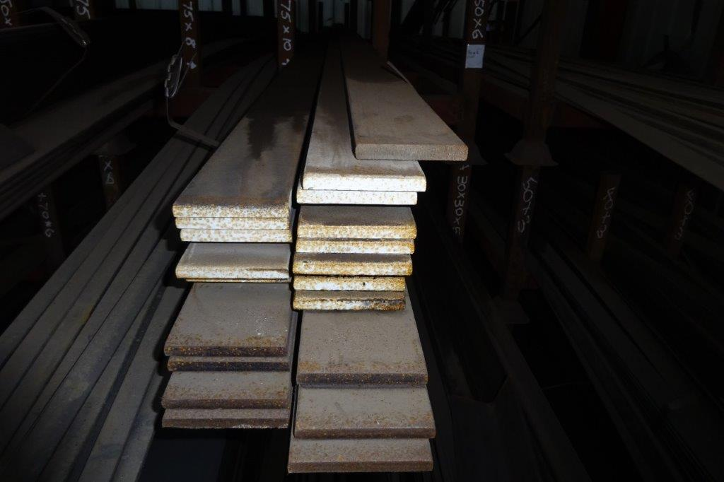 6 Mtrs 75 x 10 Mild Steel Metal Flat Bar