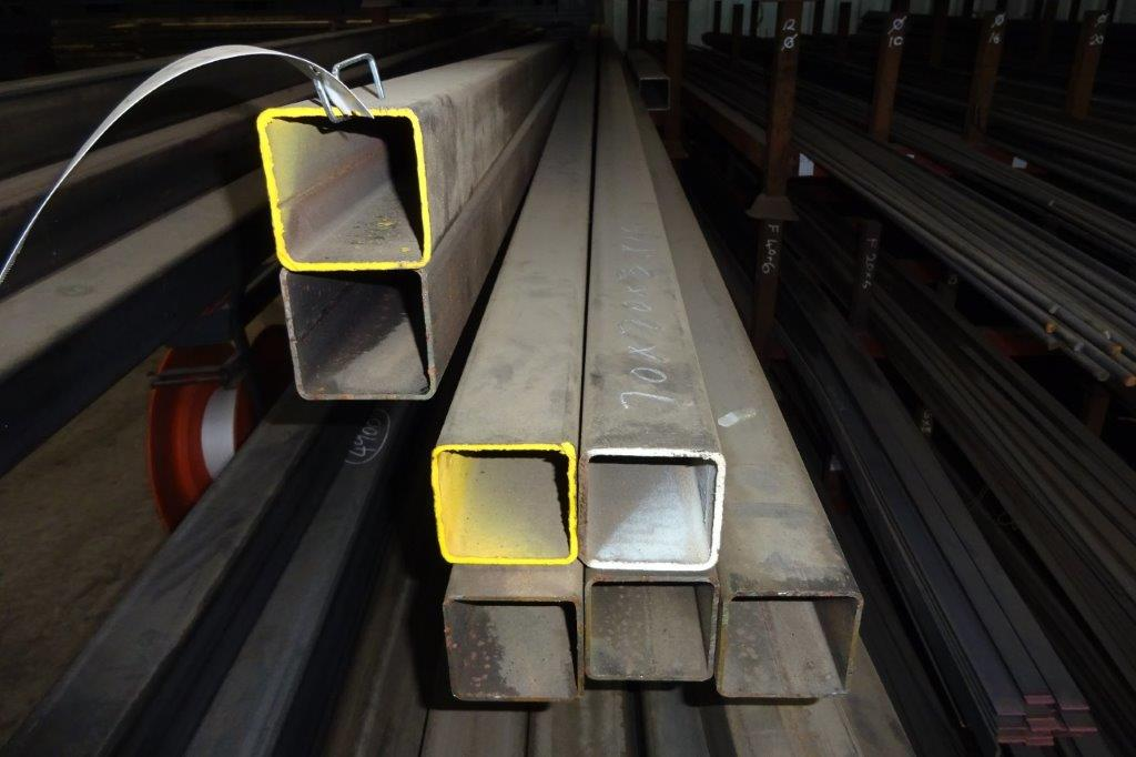 7.5 Mtrs 70 x 70 x 3 Mild Steel Box Section RHS
