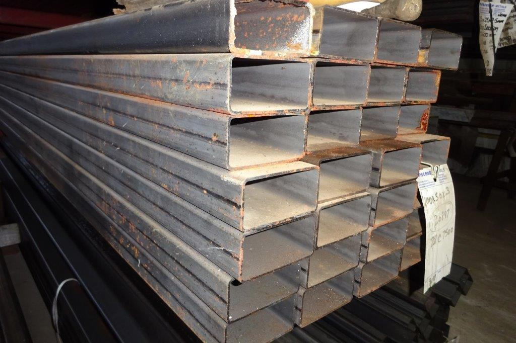 7.5 Mtrs 100 x 50 x 4 Mild Steel Box Section RHS