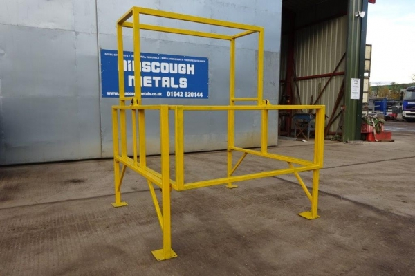 Used Yellow Pallet Safety Gate For Mezzanine Floors / Palletised Loading Gate **made to Order**