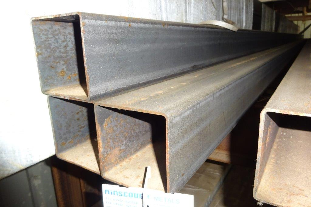 3.75 Mtrs 100 x 100 x 3 Mild Steel Box Section RHS