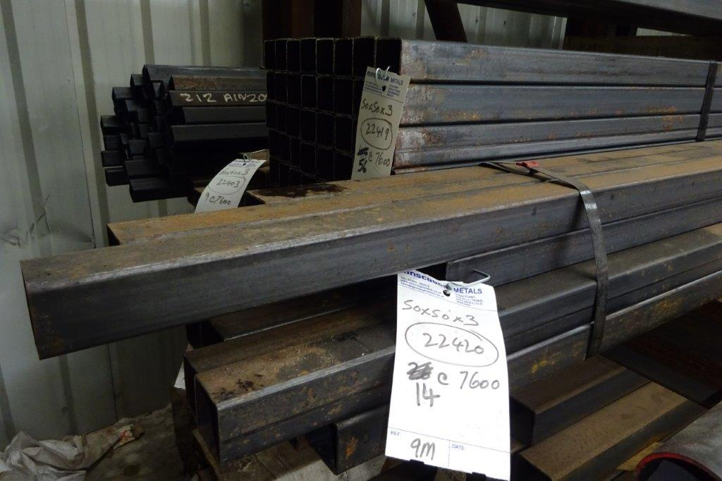 7.5 Mtrs 50 x 50 x 3 Mild Steel Box Section RHS