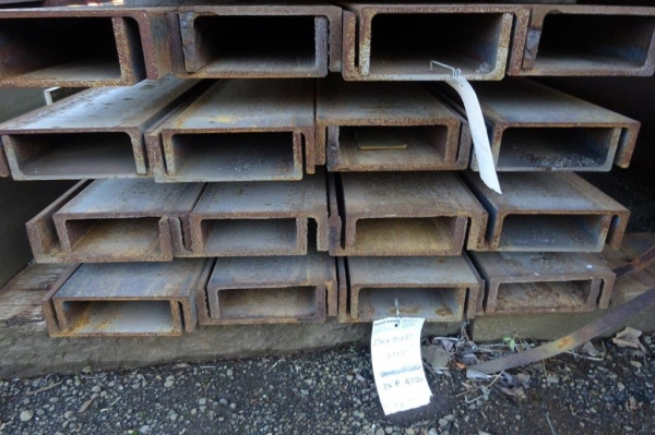 14.000mtr Long 230 x 75 x 25.7kg/m Unused Stock Rusty Steel Channel - Pfc