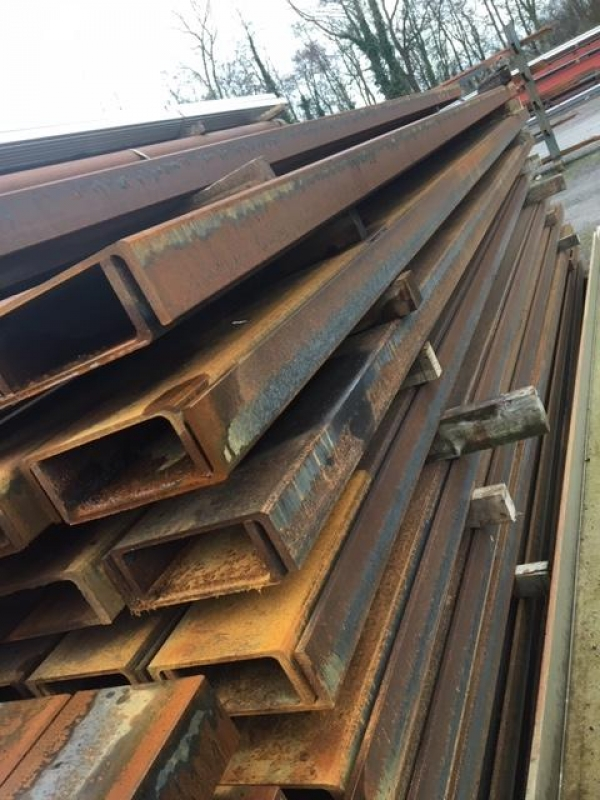 4.750 Mtrs Long 230mm x 75mm x 25.7 Kg/m Unused Stock Rusty Steel Channel - Pfc