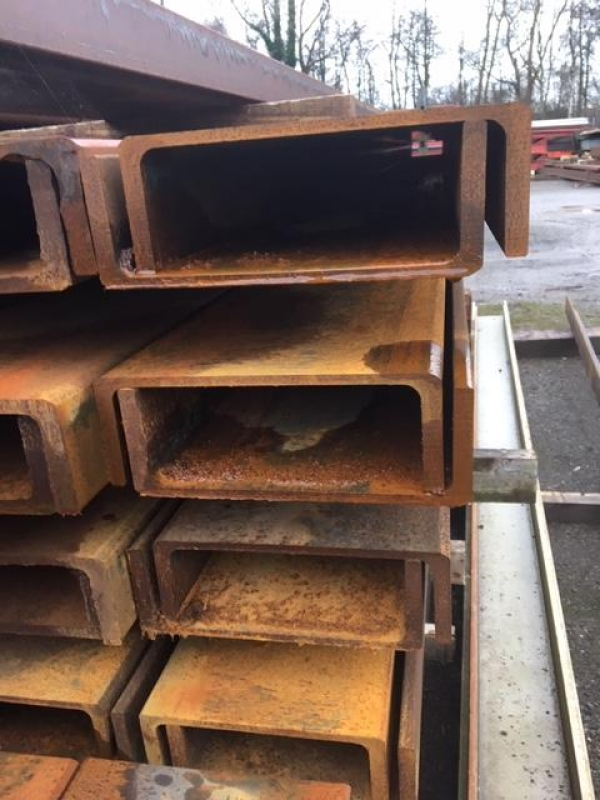 6.555 Mtrs Long 260mm x 90mm x 34.8 Kg/m Unused Stock Rusty Steel Channel - Pfc