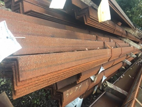 12.200 Mtr 70mm x 70mm x 5mm Mild Steel Angle Iron  Unused Stock Rusty Equal Angle Iron - Please Note These Need to be Cut Upto 8mtr For Transport