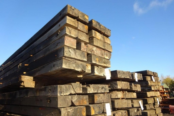 Used Mixed Species Hardwood Timber Mat / Crane Mat 5.000 Mtr x 1.000 Mtr x 130/140 mm (ekki Mat / Access Mat, Bog Mat, Excavator Mat, Floor Protection, Road Covers, Not Road Plates)