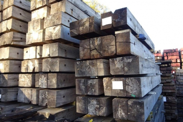 Used Mixed Species Hardwood Timber / Crane Mat 3.000 Mtr x 1.030 Mtr x 240 mm (ekki Mat / Access Mat, Bog Mat, Excavator Mat, Floor Protection, Road Covers, Not Road Plates)