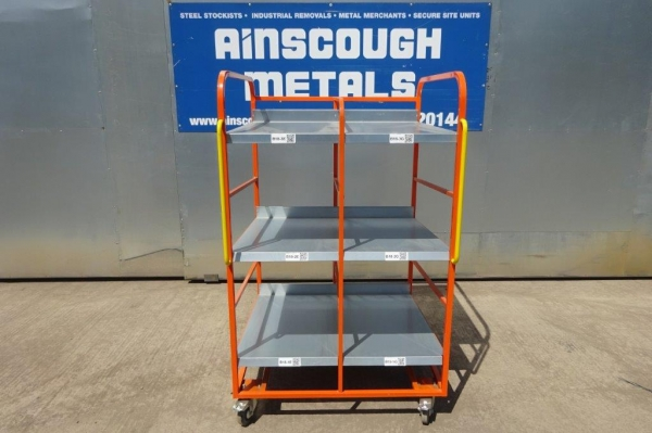 Used Orange Trolley - Picking / Packing / Storage / Shelving - Free Delivery
