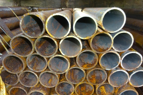 7.600 Mtr Lengths of 60.3 mm x   4.0 mm Unused Stock Rusty Steel Tube - Chs Drainage - Water Pipe