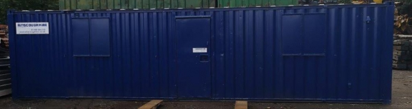 32ft Long 10ft Wide Blue Anti Vandal / Office / Canteen Cabin / Welfare / Toilet - Fully Refurbished / Second Hand  - Store